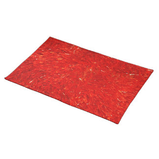 Festive Chic Bright Red Color Pattern Placemat