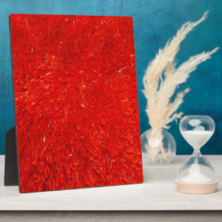 Festive Chic Bright Red Color Pattern Plaque