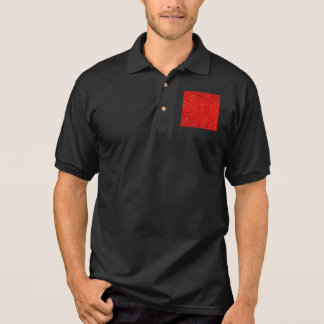 Festive Chic Bright Red Color Pattern Polo Shirt