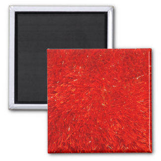 Festive Chic Bright Red Color Pattern Square Magnet