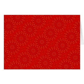 Festive Chic Bright Red Kaleidoscope Design Card