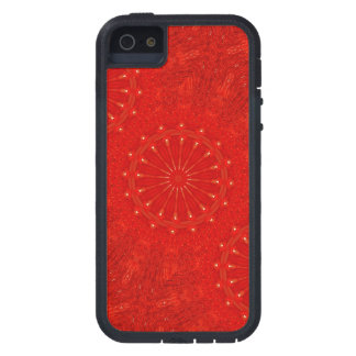 Festive Chic Bright Red Kaleidoscope Design iPhone 5 Cover