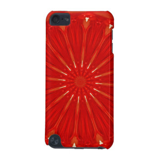 Festive Chic Bright Red Kaleidoscope Design iPod Touch (5th Generation) Cases