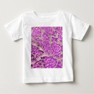 Festive Chic Shiny Pink Grey Stones Baby T-Shirt