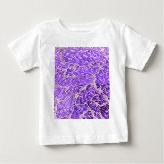 Festive Chic Shiny Purple Glitter Stones Baby T-Shirt
