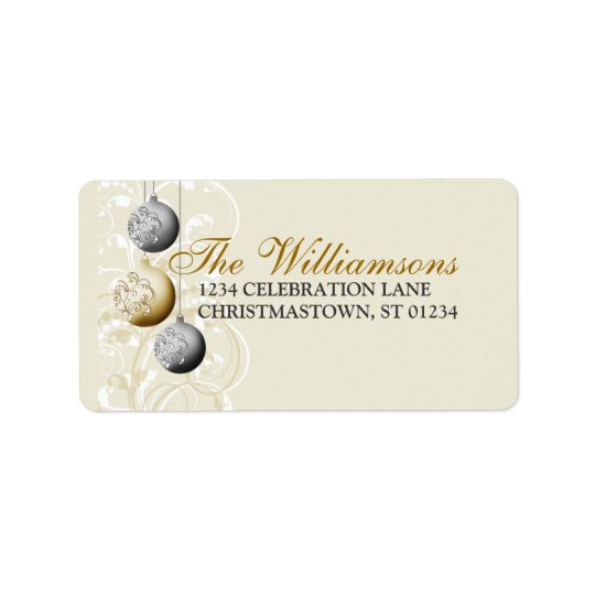 Festive Christmas Address Label