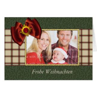 Festive Christmas card with elegant loop