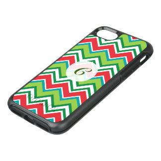 Festive Christmas Colors Chevron Pattern OtterBox Symmetry iPhone 8/7 Case