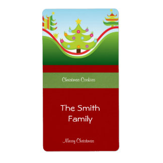 Festive Christmas Gift Label Shipping Label