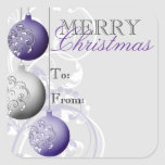 Festive Christmas Gift Tag Sticker
