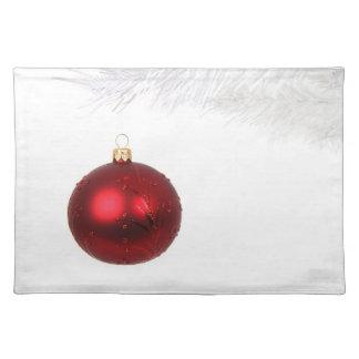 Festive Christmas Ornament Placemat
