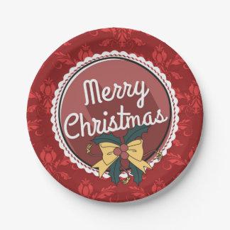 Festive Christmas paper plates
