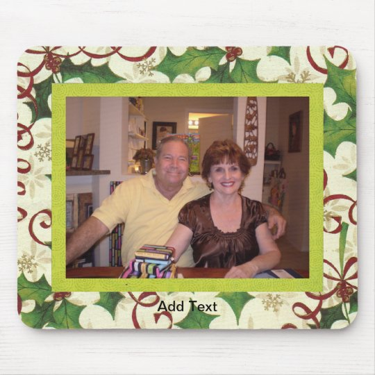 Festive Christmas Photo Template Mouse Pad
