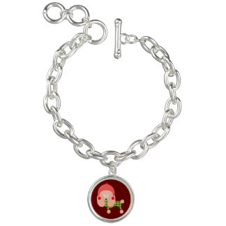 Festive Christmas Poodle Charm Bracelets