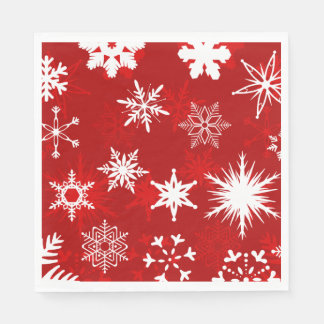 Festive Christmas snowflakes Disposable Napkins