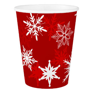 Festive Christmas snowflakes Paper Cup