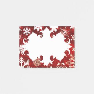 Festive Christmas snowflakes Post-it Notes