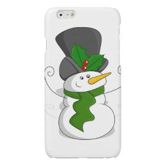 Festive Christmas Snowman Cartoon