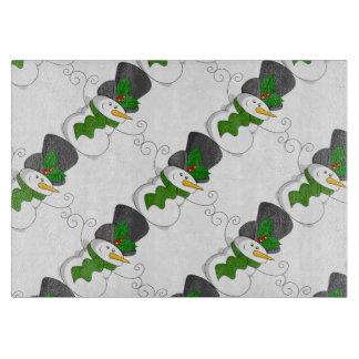 Festive Christmas Snowman Cartoon Boards