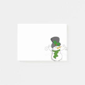 Festive Christmas Snowman Cartoon Post-it Notes