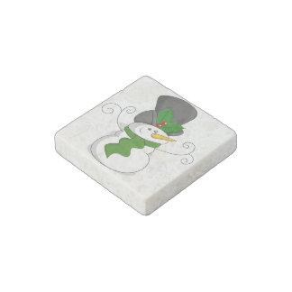 Festive Christmas Snowman Cartoon Stone Magnets