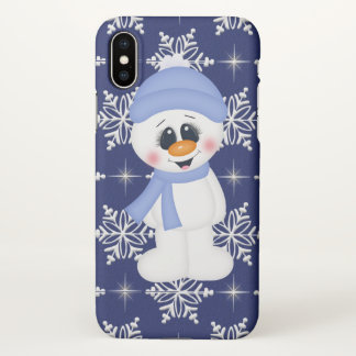 Festive Christmas snowman Holiday phone ten case
