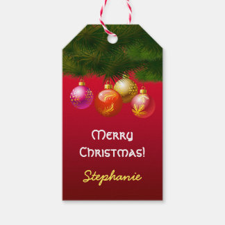 Festive Christmas Tree Decorations Gift Tags