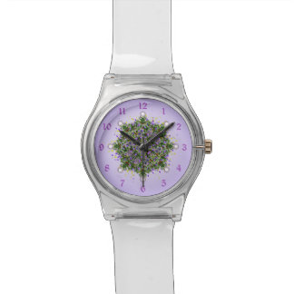 Festive Christmas Tree Fractal Wristwatches