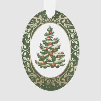 Festive Christmas Tree Holiday Acrylic Ornaments