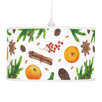 Festive Christmas Winter Pattern Berries Spices Pendant Lamp
