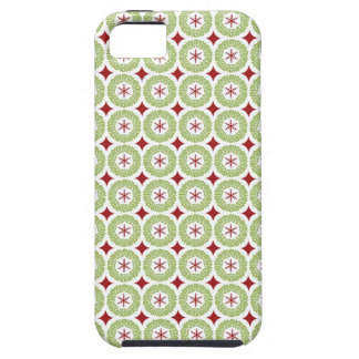 Festive Christmas Wreath and Star Pattern iPhone 5 Case