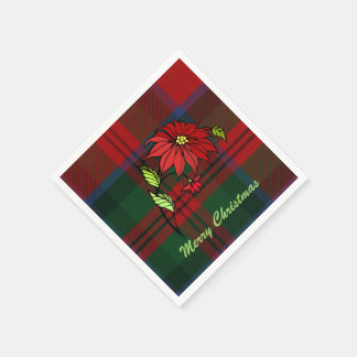 Festive Clan MacDuff Plaid Holiday Napkins Disposable Napkin