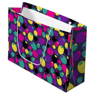 Festive colorful bright olives gift bag