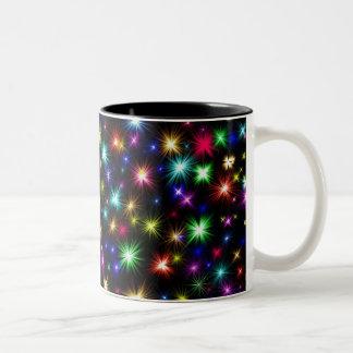 Festive colorful fireworks coffee mug
