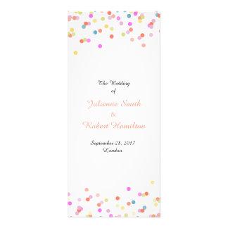 Festive Confetti Wedding Ceremony Program