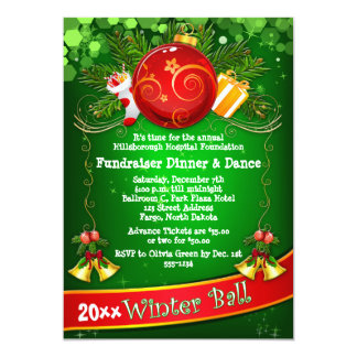 Festive Corporate Holiday Party Fundraiser Invite
