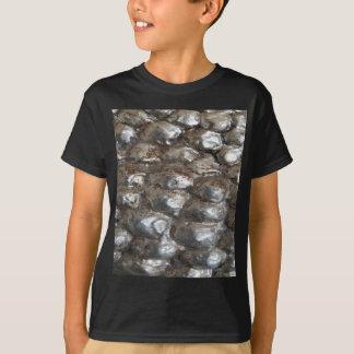 Festive Dark Silver Metallic Abstract Art T-Shirt