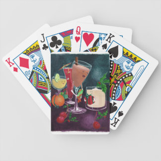 Festive Drinks Bicycle Playing Cards