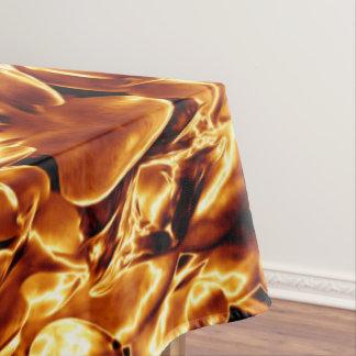 Festive Elegant Brown Gold Copper Christmas Star Tablecloth