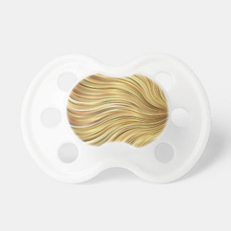 Festive Elegant  Gold Abstract Flowing Stripes Pacifiers