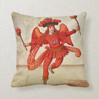 Festive Fire Dancer Throw Pillow