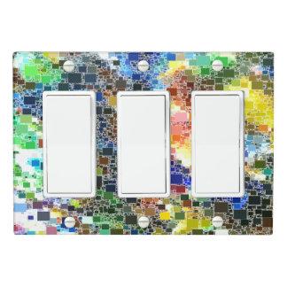 Festive Floating Tile Artwork Light Switch Cover