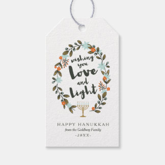 Festive Floral Hanukkah Pack Of Gift Tags