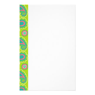 Festive Floral Paisley Stationery Paper