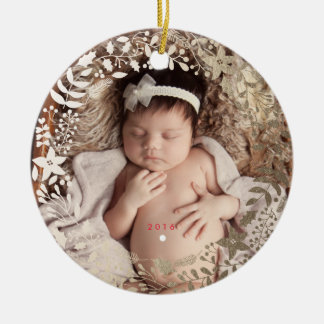 Festive Florals | Personalized Christmas Ornament