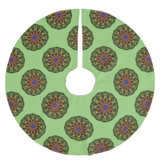 Festive Flowers Nature, Mandala for Christmas 1.4 Brushed Polyester Tree Skirt