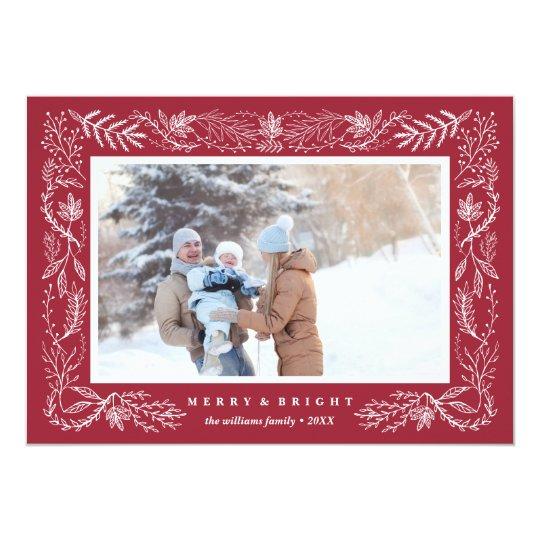 Festive Foliage | Holiday Photo Card