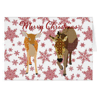 Festive Forest Friends Christmas Greeting Greeting Card
