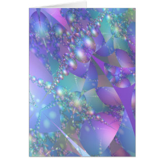 Festive Fractal Bubbles Greeting Card