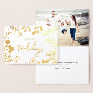 Festive Frame Holiday Foil Card
